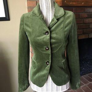 J. Crew Olive Green Velvet Bella Jacket Blazer 0